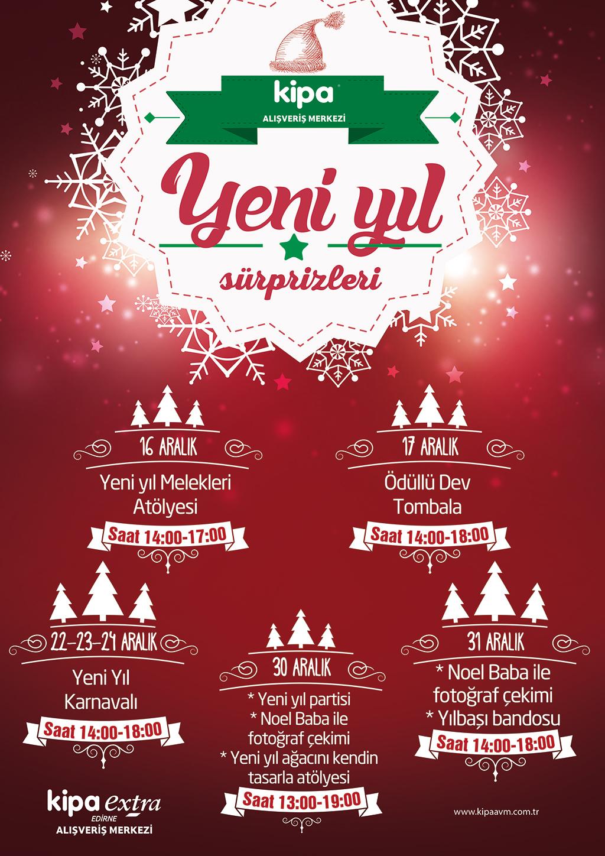 Yeni yıl Sürprizleri Edirne Kipa AVM'de!