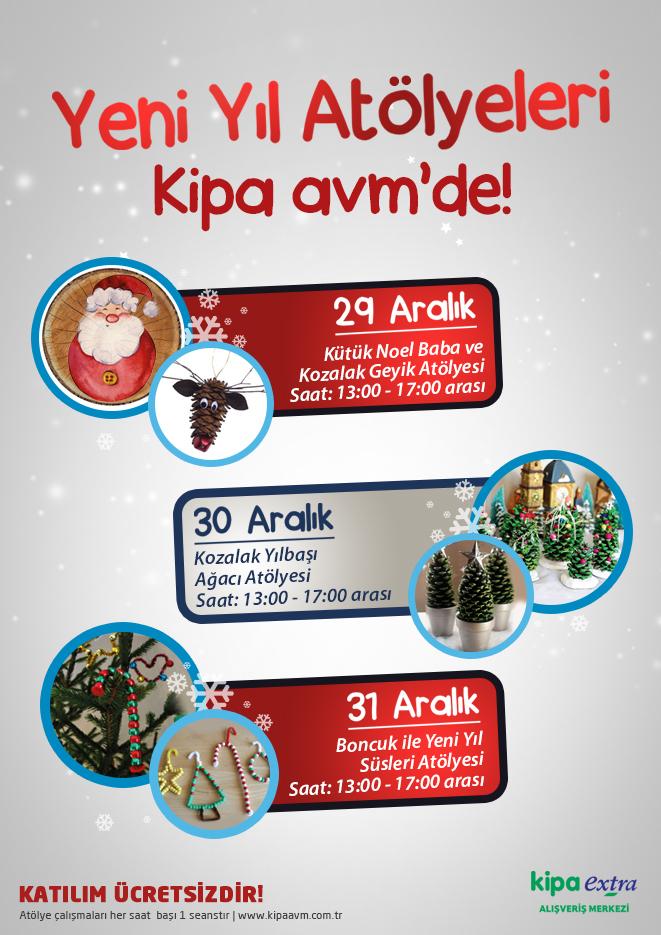 Yeni Yıl Atölyeleri Kipa AVM'de!